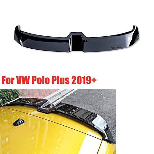Spoiler Trasero Bright Black Abs Roof Trunk Empennage XTT Adecuado para Volkswagen Polo Plus 2019