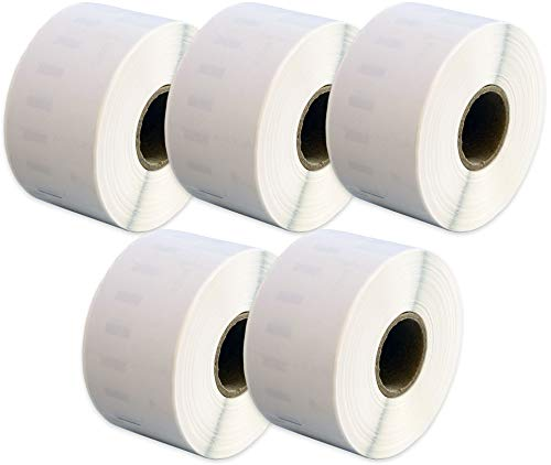 Compatible 99012 White Standard Address Labels Rolls (260 Labels per Roll) for Dymo LabelWriter & Seiko Smart Label Printers (36mm x 89mm) - FIVE ROLLS
