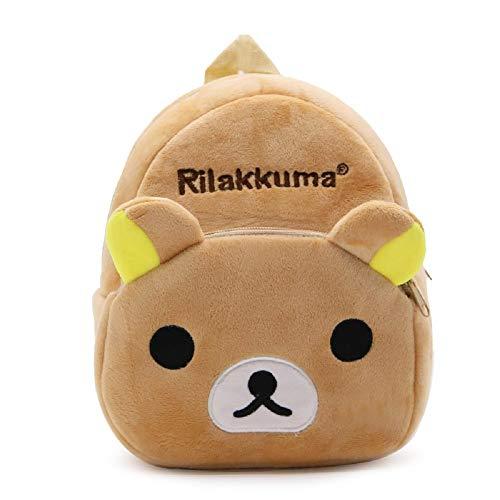 CHDJ Niedlicher Mini-Plüsch-Rucksack für Kleinkinder, für Mädchen und Jungen, Alter 1–3 Jahre, Rilakkuma (Braun) - shoulder-handbags