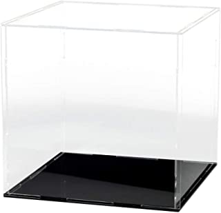Lanscoe Clear Acrylic Display Case Countertop Box Cube Organizer Stand Dustproof Protection Showcase for Action Figures/Toys/Collectibles (12x12x12Inch; 30x30x30cm)