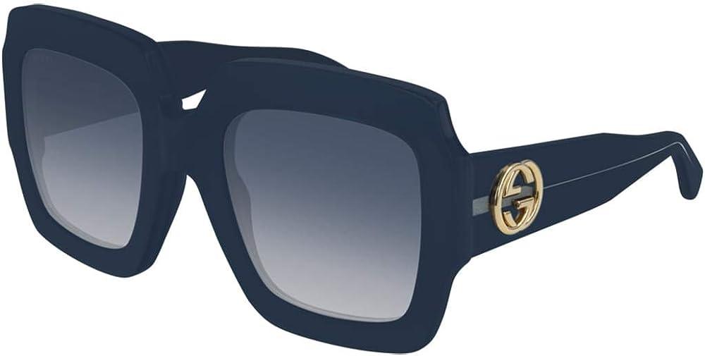 Gucci, occhiali da sole da donna, quadrati,  blu GG0178S-006 54