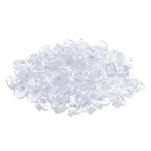 YOOJIA 100 Stück Möbel Ecke Klammer Glas-Clips Glashalter Klemmhalter Transparente Kunststoff Spiegel-Befestigungsclips Glasscheiben-Halterung Transparent B One Size