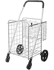 Winkelwagen Winkelen Trolley Cart Folding Utility Cart kan gemakkelijk lichtgewicht trap klimrek met wielen voor thuis, kantoor Winkelwagentje