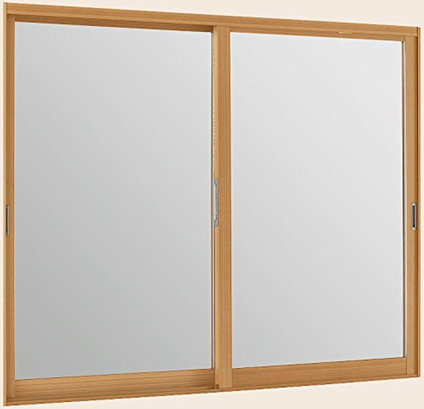 不良品ホールスプーントステム インプラスウッド 引き違窓 2枚建 複層ガラス 幅1001~1500mm×高1001~1400mm 不透明型板4mm+透明3mmガラス 枠色:クリエペール オーダー商品