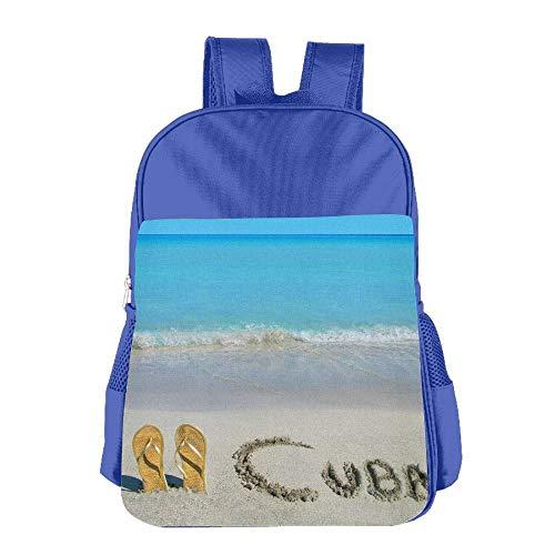 Cuba School Backpack Children Shoulder Daypack Kid Lunch Tote Bags Royalblue