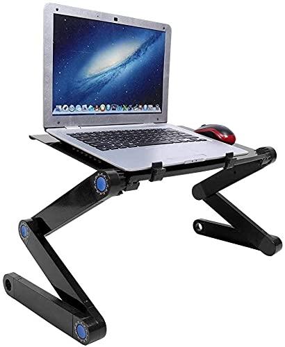 HDZW Escritorio de computadora portátil, Soporte de Escritorio para computadora portátil, Escritorio Plegable de aleación de Aluminio para computadora portátil
