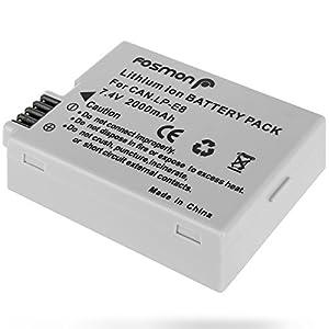 Fosmon 7.4V 2000mAh Reemplazo Lithium Ion Batería Paquete para Canon LP-E8 y Canon EOS 700D 650D 600D 550D T2i T3i T4i X4 X5 X6 LPE8
