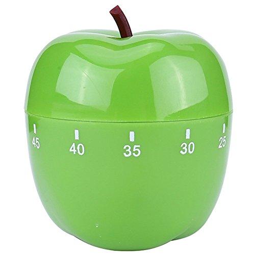 Demarkt Küchentimer Zeitmesser Küche Kurzzeitmesser Kurzzeitwecker lustige Eieruhr Eiermesser Apfel Form