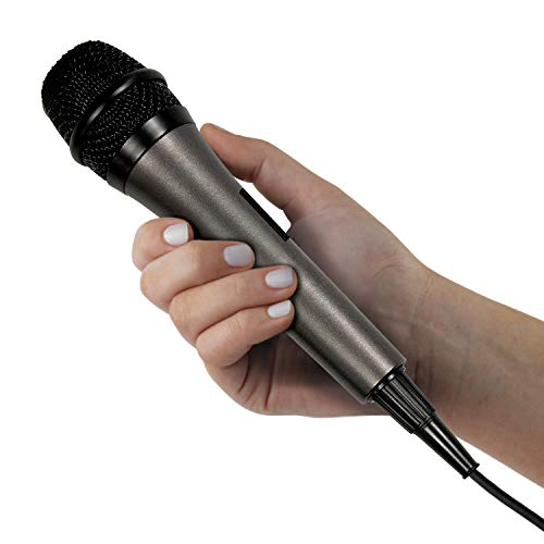 Singing Machine SMM-205 Unidirectional Dynamic Microphone with 10 Ft. Cord,Black, one size