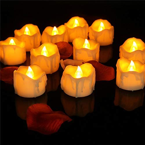 XXLYY 12pcs Battery candles flicker with timer Flameless Tealight Candles Automatic Votives for Wedding Kitchen Home Window Decoration