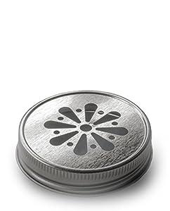 4 x Blumendeckel Silber – für Ball Mason Glas