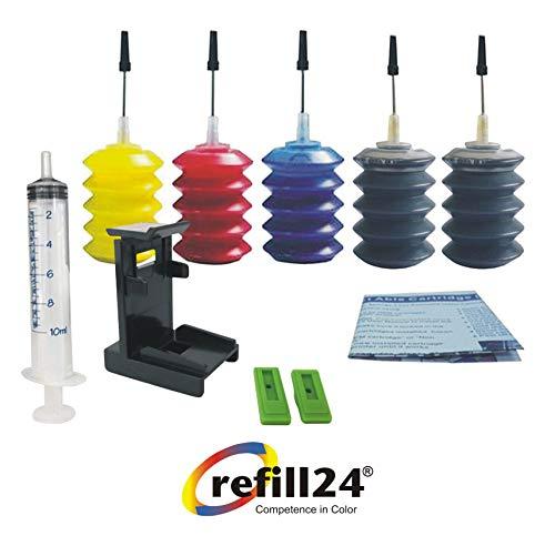 Kit de Recarga para Cartuchos de Tinta HP Universal Negro y Color, Tinta Incluye Clip y Accesorios