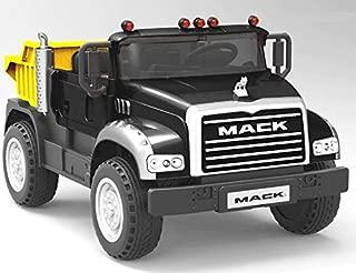 Beyond Infinity Ride On Mack Granite Dump Truck Two Seater Black, 12V Battery Powered Wheel