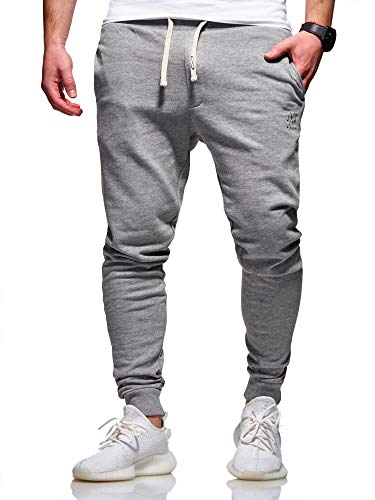 JACK & JONES Herren Jogginghose Sweat Pants Trainingshose Freizeithose Joggers Streetwear (X-Large, Light Grey Melange)