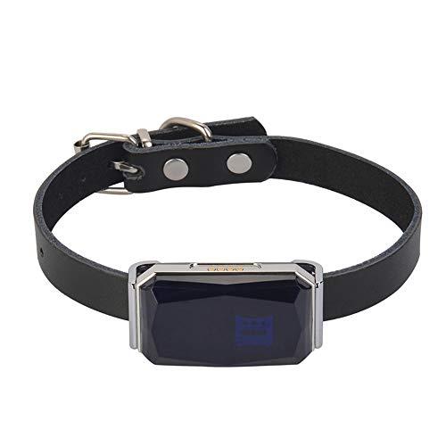 saxz GPS Tracker Pet GPS Tracker Perro GPS Tracker Y Finder Pet IP67 Aparato De Seguimiento De La Actividad Impermeable para Perros, Gatos Y Mascotas(Color:Azul)