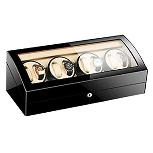 ZCXBHD Enrollador de reloj para 8 relojes automáticos con 9 almacenamientos de relojes extra silenciosos hechos por CA, 5 ajustes diferentes, caja de exhibición de gran capacidad