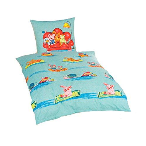 NOVITESSE Ropa de cama infantil Renforce, 135 x 200 cm, funda de almohada y funda de edredón