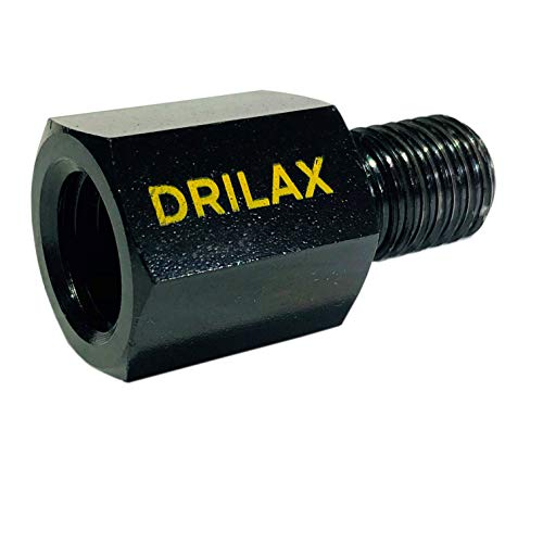 Drilax Angle Grinder Attachments Drill Adapter 5/8 inch 11 Female to M14 Male 12,000 RPM Rated Wire Wheel Adaptor Compatible with Dewalt, Makita, Milwaukee Ryobi Tools