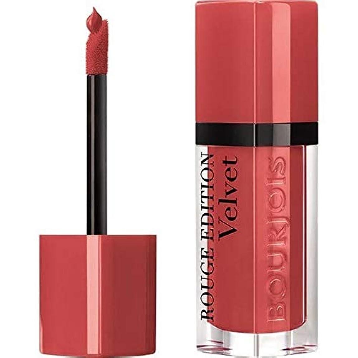割合ブラウズ電極[Bourjois ] ブルジョワルージュ版ベルベットの口紅の桃クラブ4 - Bourjois Rouge Edition Velvet lipstick Peach Club 4 [並行輸入品]