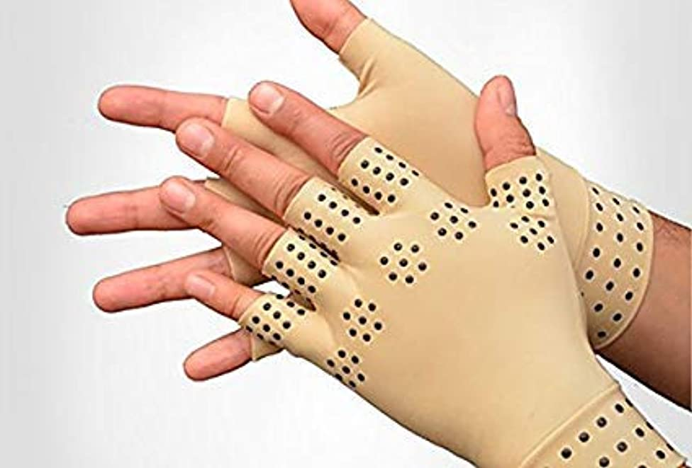 BodyPure 2 Pack True Touch Copper Comfot Glove R & L Magnetic Warming Effects, Gradual Compression , Hand And Wrist Support For Arthritis And Similar Hand Problems