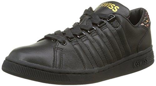 K-Swiss Lozan III TT Reptile Glam Damen Sneaker, Schuhe, Schwarz (Black/Black/Gold), 38 EU
