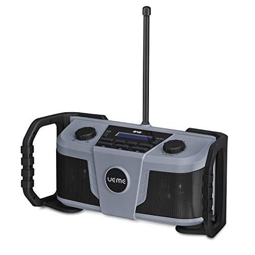 UEME Rugged DAB/DAB+ FM Jobsite Wireless Bluetooth Radio DB322 Gry/Blk