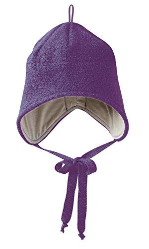 Disana Walk-Mütze 100% bio-Schurwolle/ Futter 100% bio-Baumwolle pflaume (02 (46 - 50 cm), pflaume)