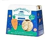 Marmaluzi Naturkost Buchweizen und Linsen Baby Chips   Ohne Zuckerzusatz   Laktosefrei   Frei von Konservierungsstoffen   Ab 8 Monaten   Pack 4 x 30 g