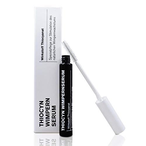 Thiocyn Wimpernserum & Augenbrauenserum – 8ml - ohne Hormone - Spezialpflege zur Stimulation des natürlichen Wimpernwachstums für kräftigere, lange Wimpern und dichtere Augenbrauen - MADE IN GERMANY