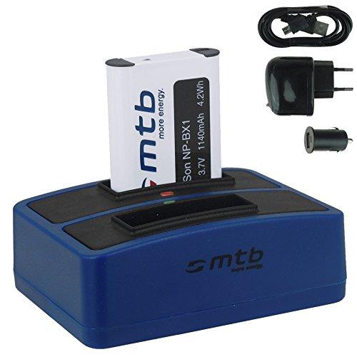 Batería + Cargador Doble (USB/Coche/Corriente) para Sony NP-BX1 / Sony Action CAM...