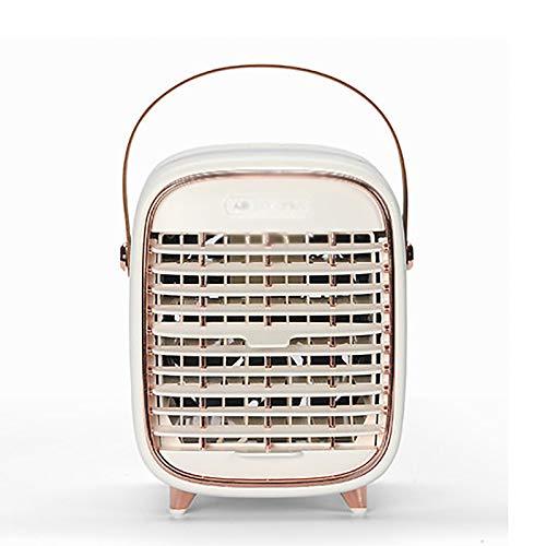 psy Ventilador Pequeño Mini Ventilador De Aire Acondicionado con Aerosol Ventilador De Escritorio USB Recargable Escritorio De Oficina Portátil Escritorio Silencioso Hogar