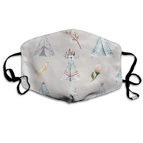 Houity stofdicht wasbaar, aquarel behang met bloesem bloemen, zacht, ademend, wasbaar, knop verstelbaar, geschikt voor mannen en vrouwen