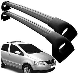 Rack Teto Fox 4 Portas Preto Sportivo Aluminio VW101 Projecar