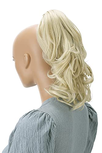 PRETTYSHOP 30cm Postiche Natte Queue De Cheval Extensions De Cheveux Volumineux Ondulé Blond Clair H134