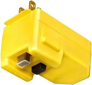 Southwire 120V/15A Right Angle User Attachable GFCI Plug, Yellow