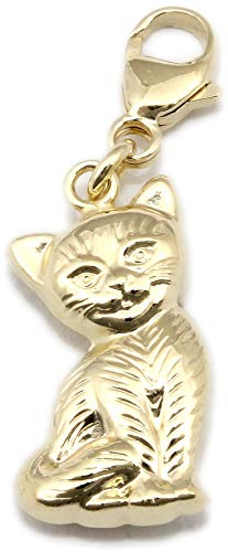 Anhänger Charm Katze Gold 333 Einhänger Gelbgold Unisex