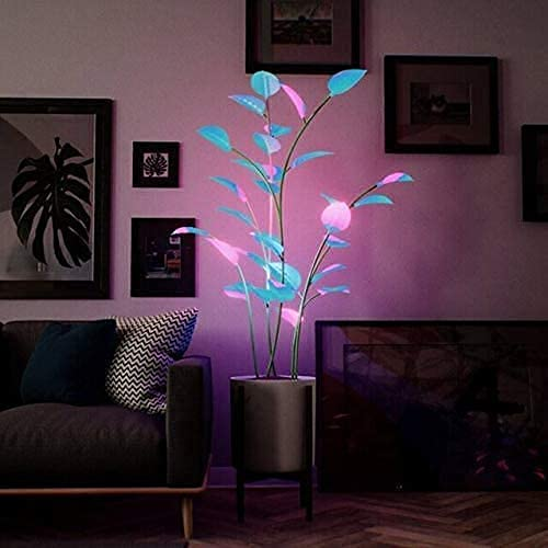 Snowvirtuos The Magical Led Houseplant - Programmable LEDs, Artificial Plants for Home Decor Indoor, Decorative Fairy Light, Bonsai Houseplant Light for Dinner Parties Date Nights (500 LEDs)