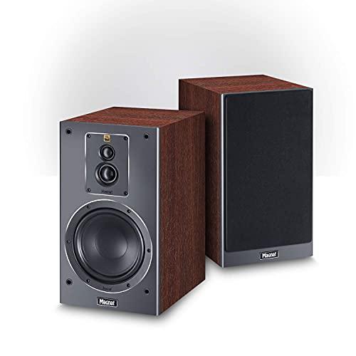 Magnat Signature 503, 3-Wege Regallautsprecher, Regalbox für Stereo und Heimkino geeignet, HiFi-Lautsprecher, 1 Paar, Farbe:Dark Mocca