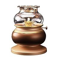 石油ランプ灯油ランプ 仏のための純銅の液体バターオイルランプホルダー、家庭用防風ランプ、仏陀のランプのためのレトロな仏のfortunaランプ 灯油ランタン (Color : Gold)
