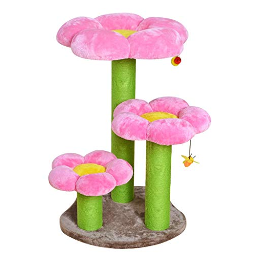 Xiaoli Árbol para Gatos Cat Tree Multi Nivel Flower Cat Toalla de Gato con rasguño Post Cat Kitten Activity Center Play Cat Rasguing Post Toy Rascador para Gatos (Color : A)