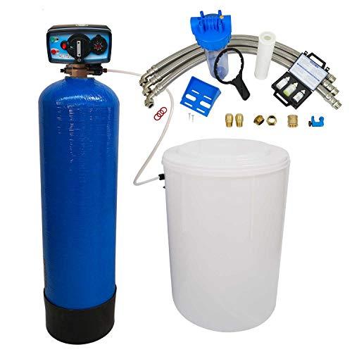 Adoucisseur d'eau bi bloc 50L Fleck 4600 MC eau chaude complet