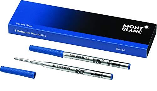 MONTBLANC Kugelschreibermine, Großraum, B, Schreibfarbe: pacific blue (2 Stück), Sie erhalten 1 Packung á 2 Stück