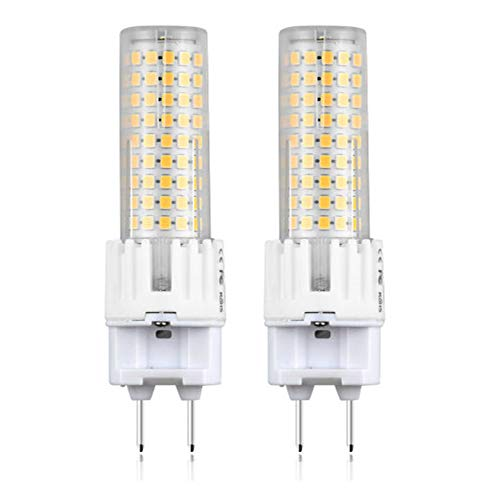 2x LED G12 Bombilla de Maíz 15W (Equivalente de 150W halógeno) con 1500lm Alto Brillo, Dos Pin Base G12 para iluminación del hogar, Centros Comerciales, Hotel, Cafetería, Museo(Blanco Cálido 3000K)
