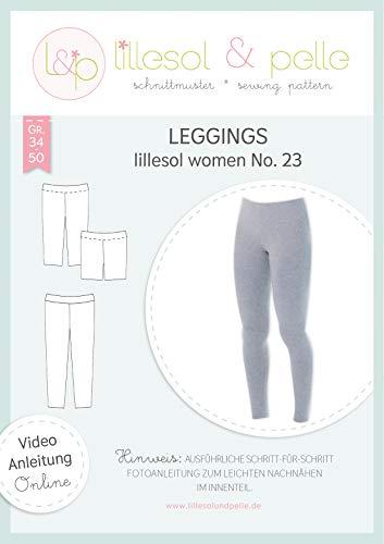 lillesol & pelle Schnittmuster lillesol Women No.23 Leggings in Größe 34-50 zum Nähen mit Foto-Anleitung und Video
