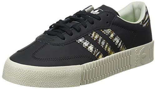 Adidas Sambarose, Zapatillas Clasicas Mujer, Negro (Core Black/Core Black/Metal Grey), 38 2/3 EU