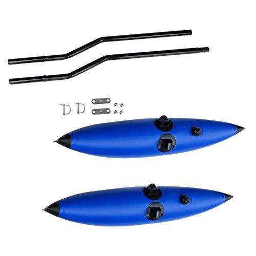 El estabilizador inflable es fácil de inflar para inflar Ideal para kayak, canoa, bote, remo, pesca, pie y principiantes El estabilizador de estabilizadores proporciona estabilidad adicional a cualquier embarcación, te hace sentir seguro y seguro Alt...