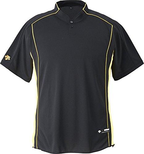 DESCENTE(デサント) 野球 立衿2ボタンベースボールシャツ ブラック Lサイズ DB109B
