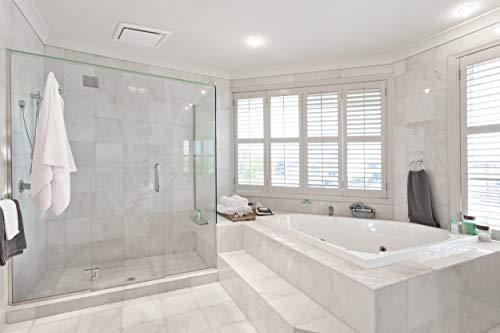 Homewerks 7140-80 Bathroom Fan Ceiling Mount Exhaust Ventilation, 1.5 Sones, 80 CFM, White