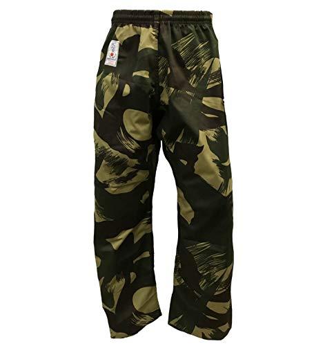 BAY® Camouflage Woodland Kickboxhose Karatehose Baumwolle Kinder Erwachsene (XL)