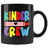 N\A Tazza di Kinder Crew per Insegnante di Scuola Materna Regalo Insegnante di Scuola Materna Tazza di caffè Regalo Primo Giorno di Scuola Tazza da tè 11 Once